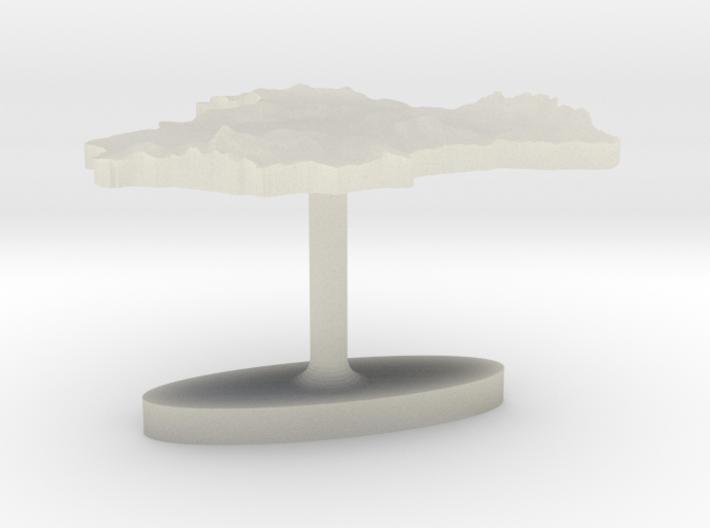 Spain Terrain Cufflink - Flat 3d printed