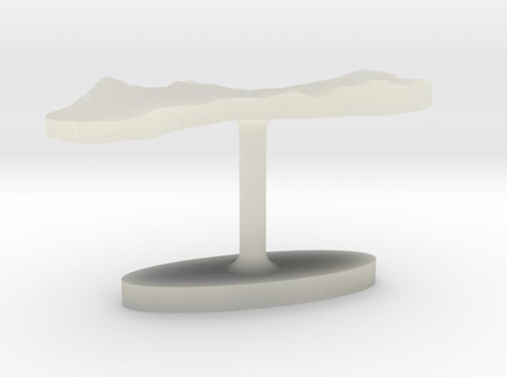 Guam Terrain Cufflink - Flat 3d printed