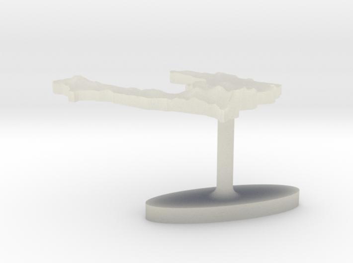 Haiti Terrain Cufflink - Flat 3d printed