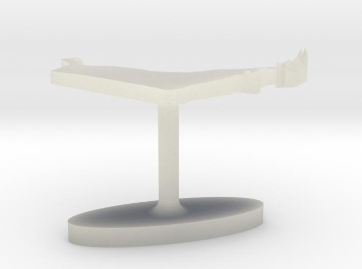 United Arab Emirates Terrain Cufflink - Flat 3d printed