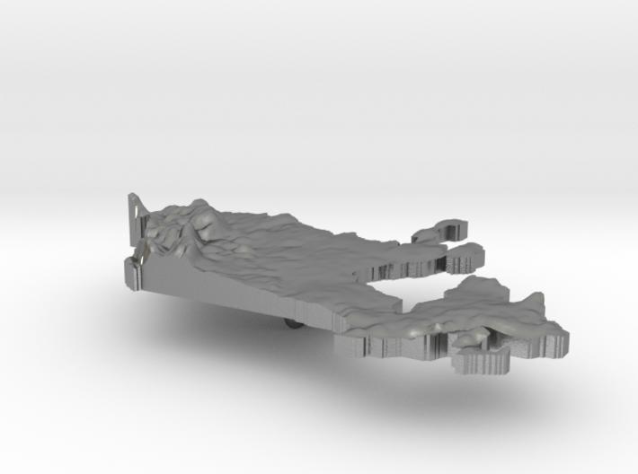 Canada Terrain Silver Pendant 3d printed