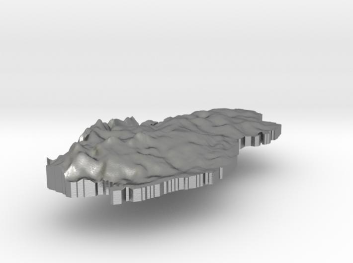 Qatar Terrain Silver Pendant 3d printed