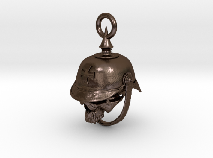 WWI German Infantry Skull Biker Bell 3d printed