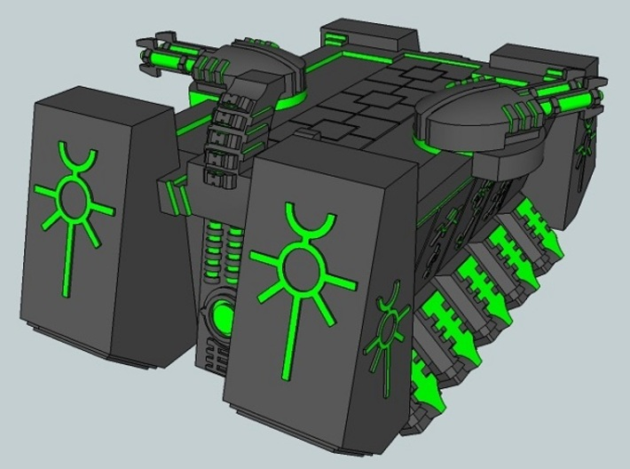 6mm DeathBot War-Barge (1pcs) 3d printed