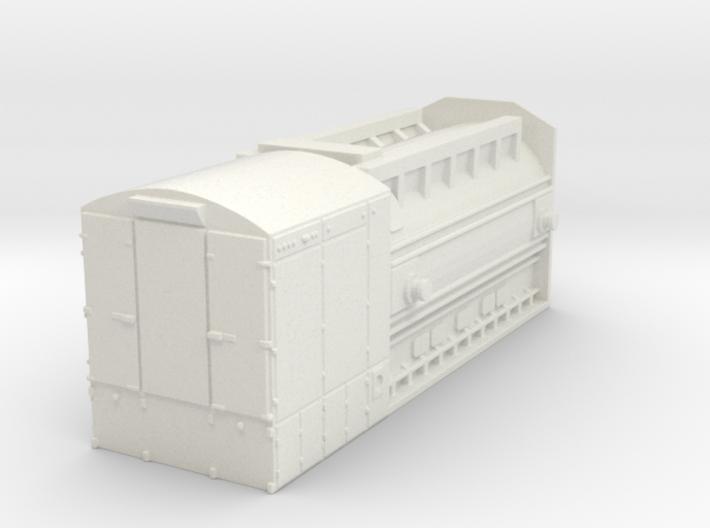 GE 7FH2 generator - load for HD flat car 3d printed