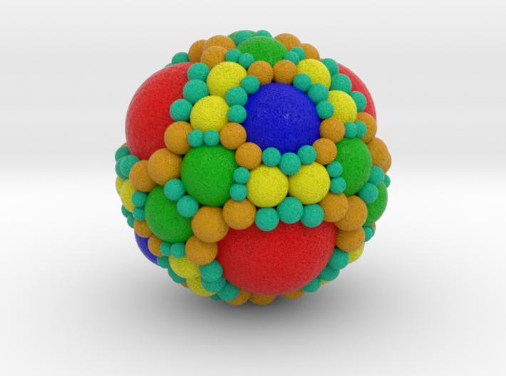 Spherical fractal: apollonian sphere packing (S) 3d printed