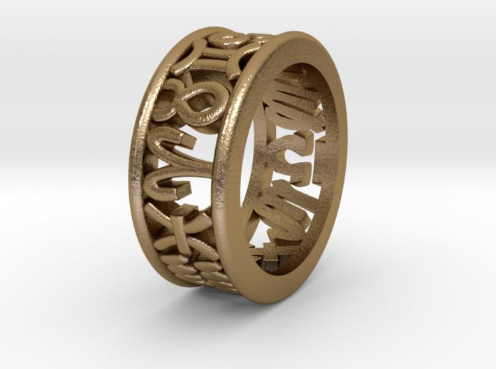 Constellation symbol ring 6 3d printed