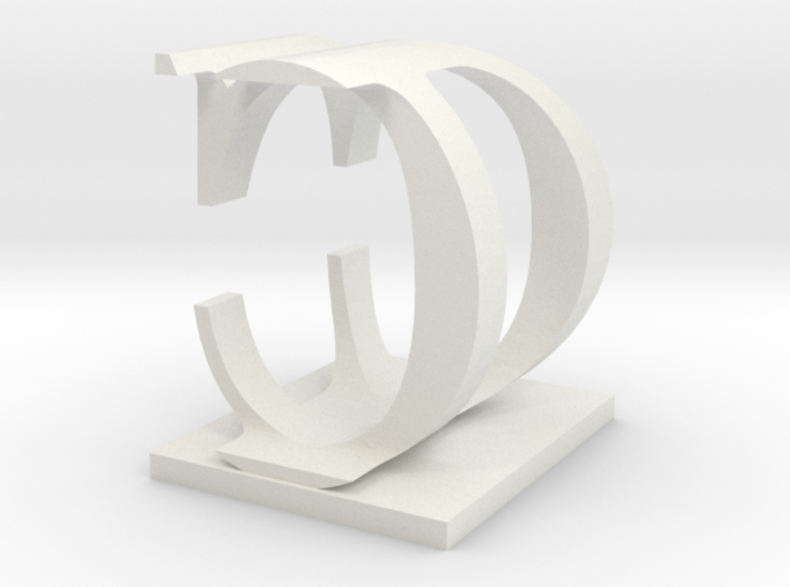 Two way letter / initial D&C 3d printed