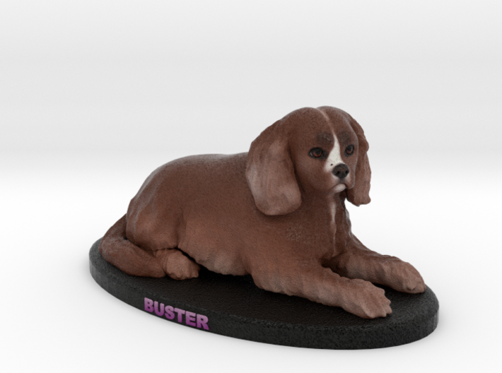 Custom Dog Figurine - Buster 3d printed