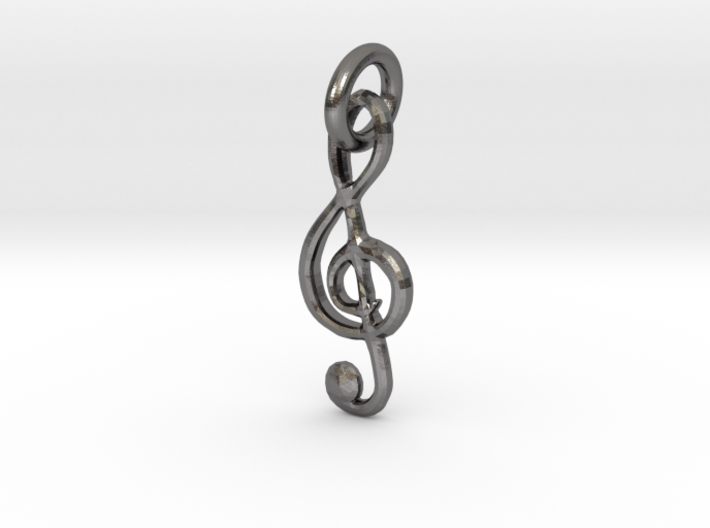 All About That Treble Single Loop Pendant 3d printed