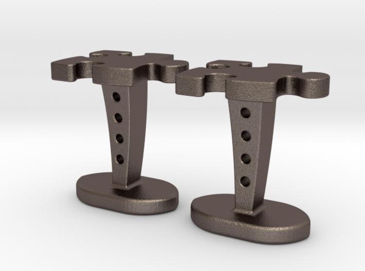 Puzzle cufflinks 3d printed