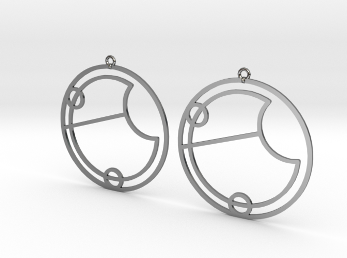 Eve - Earrings - Series 1 3d printed