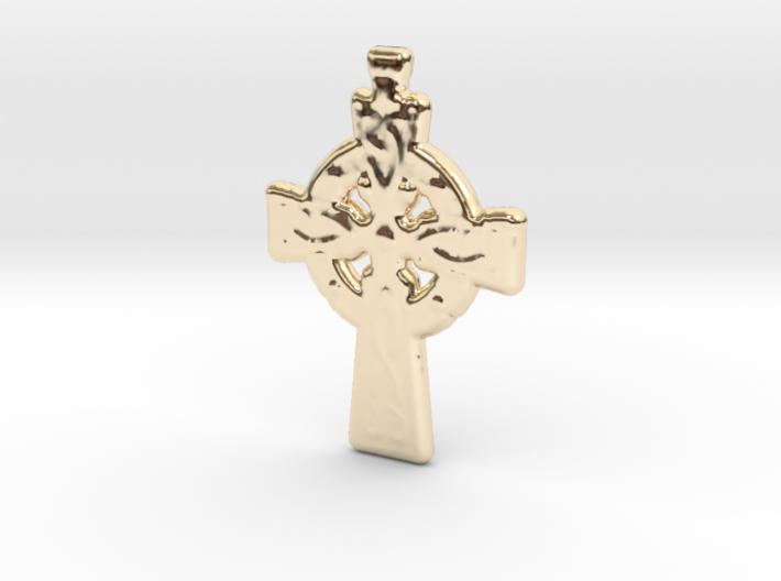 Celtic Cross Pendant 3d printed