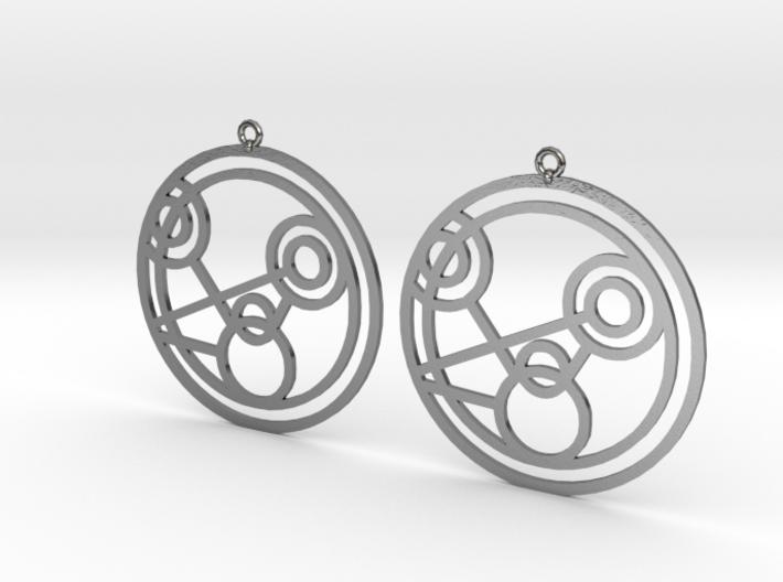 Monique - Earrings - Series 1 3d printed
