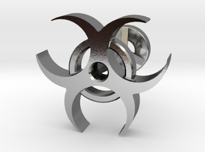 Bio Hazard Cufflinks 3d printed