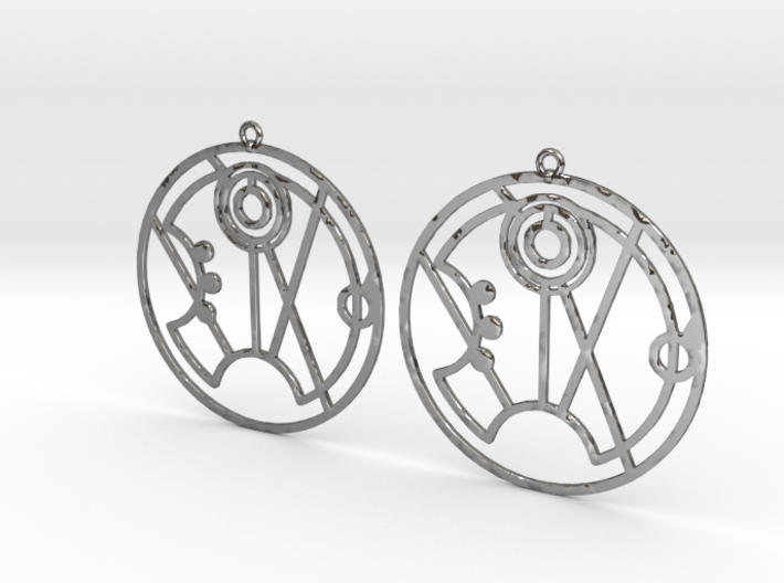 Summer - Earrings - Series 1 3d printed