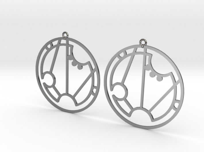 Sarah - Earrings - Series 1 3d printed