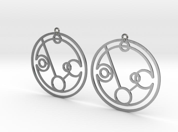 Phoebe - Earrings - Series 1 3d printed