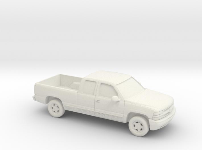 1/87 2000 Chevrolet Silverado Extended Cab 3d printed