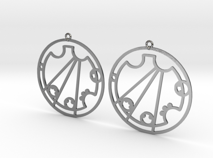 Crystal / Krystal - Earrings - Series 1 3d printed