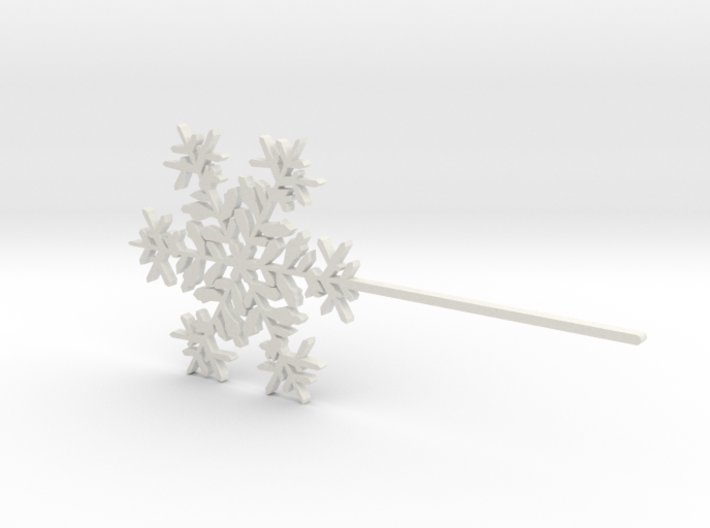 Snowflake #6 Cupcake or Treat Topper Pick 3d printed