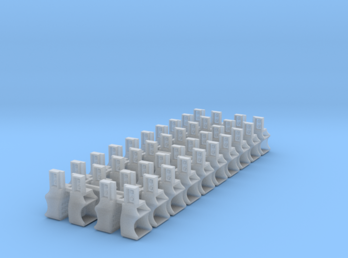 40x Southern Ry. Tender Steps - HO 3d printed