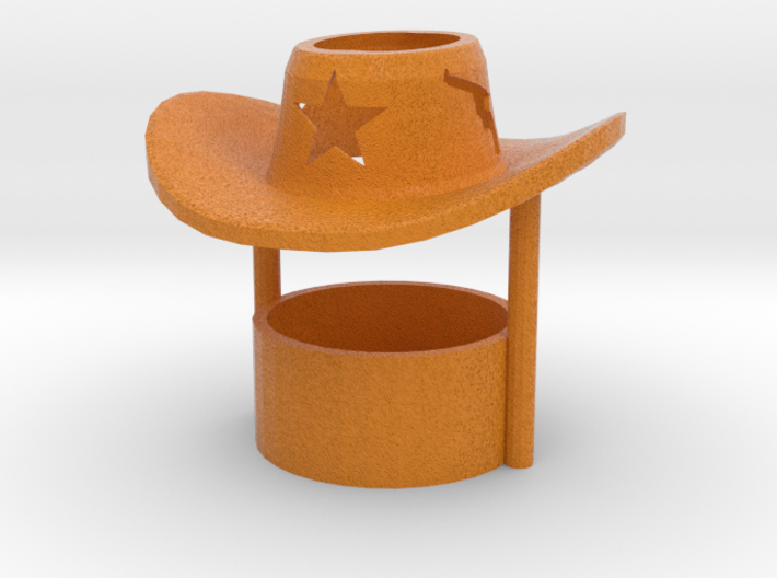 Tealight candle holder Cowboy Hat 3d printed