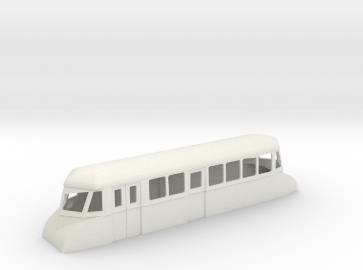 """009 bogie """"Flying Banana"""" railcar with luggage com 3d printed"""