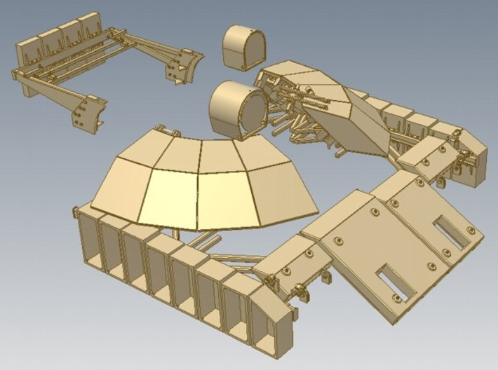 1-16 T55 ENIGMA Turret Rear Shields 3d printed