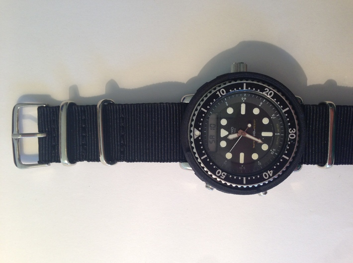 Aftermarket H558 Shroud ***Printed Horizontally*** 3d printed ***Printed Horizontally***Black on H558 paired with black nato strap(Watch and Strap NOT included)