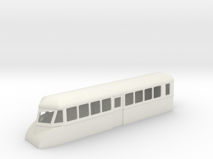 "009 bogie ""Flying Banana"" railcar single ended 3d printed"