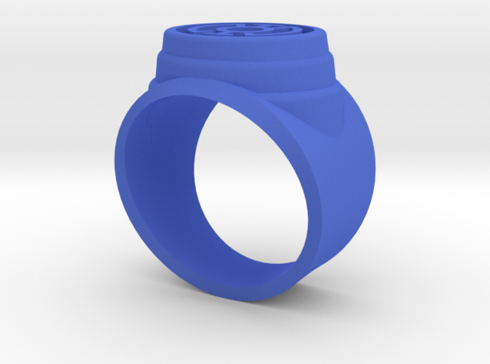 Blue Lantern Power Ring Short and Leveled Sz10.5 3d printed