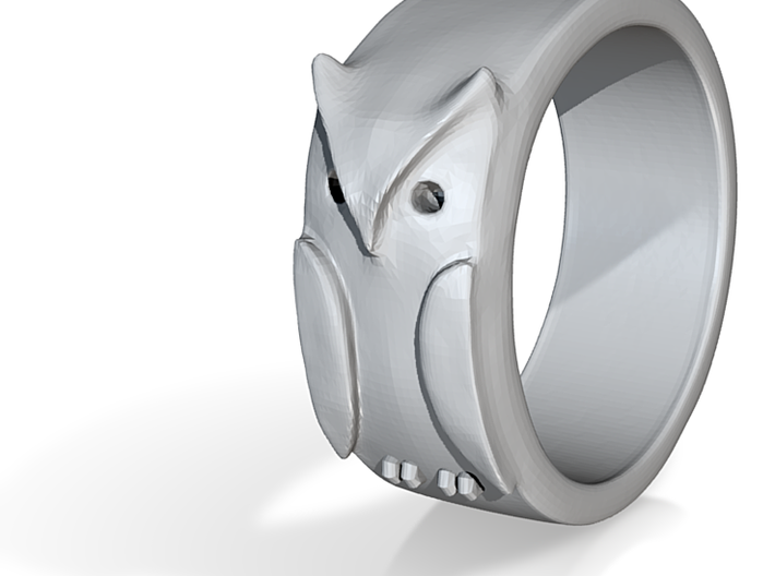 Owl ring: size 8 (US) Q (UK) 3d printed