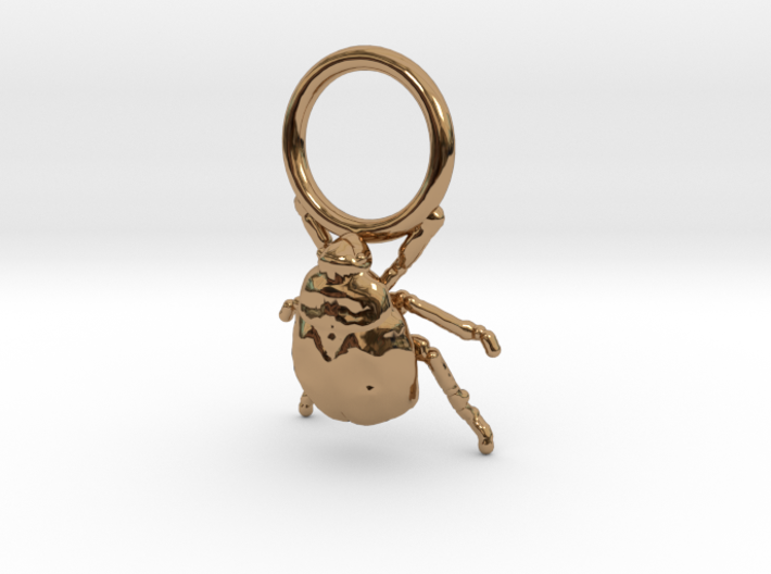 Super Tiny Gold Bug with Ring 3d printed