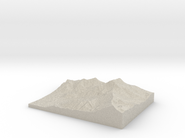 Model of Ross Pass 3d printed