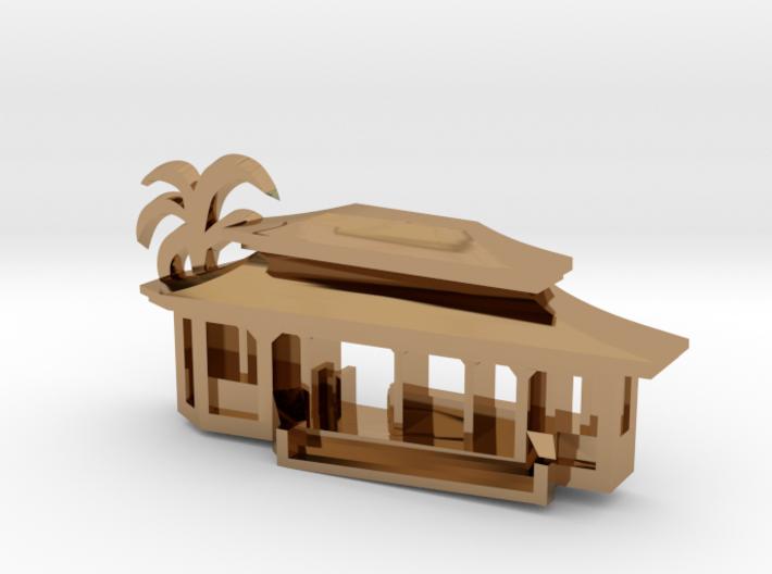 Pagoda Pendant 3d printed