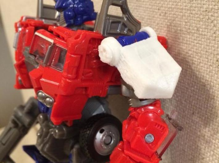 Shoulder Pads for Evasion Mode Optimus Prime 3d printed Robot mode image.