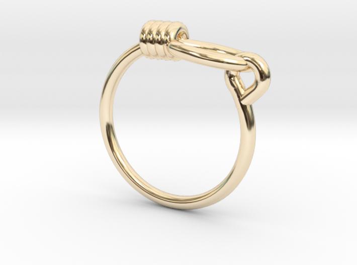 Noose Ring - Sz. 6 3d printed