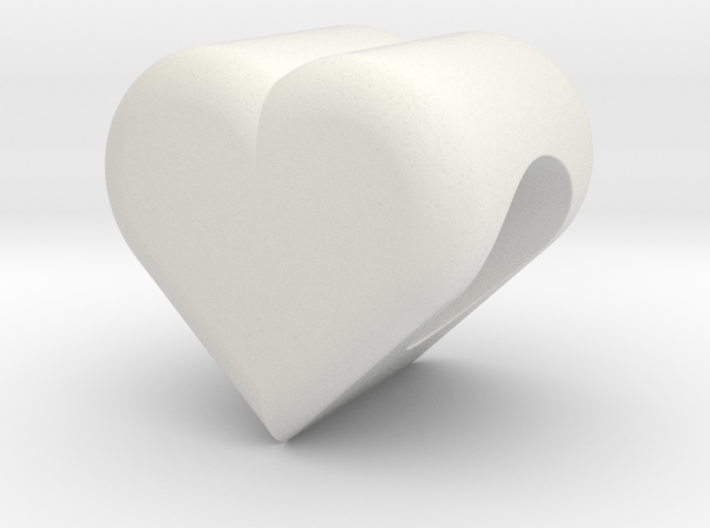 Heart Bead (5mm Hole) 3d printed
