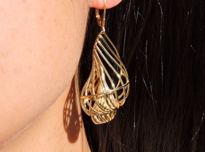 Seashell Earrings 3d printed