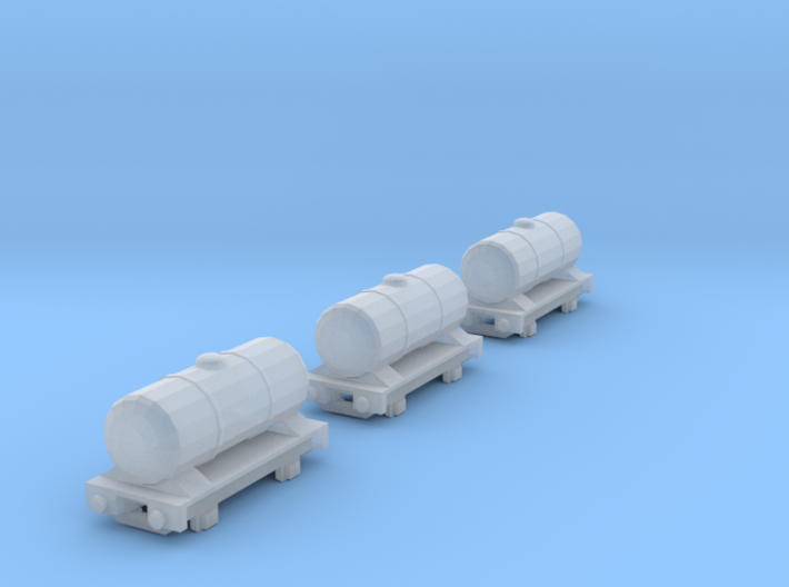 T-gauge 3 Tankers - Custom Wheels, see description 3d printed