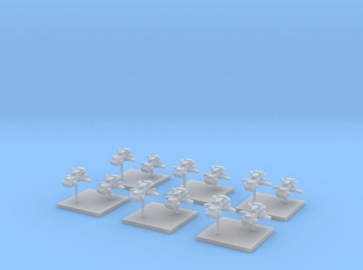 Thunderbird Gunships (6) 3d printed