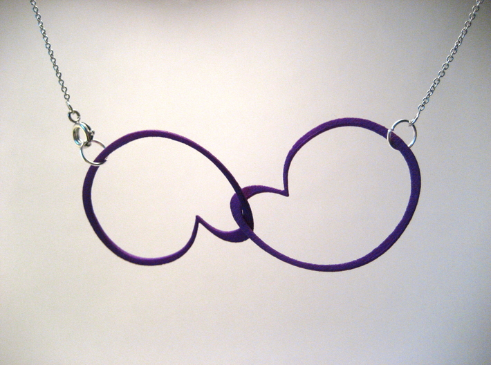 Hidden Heart Loops 3d printed Likes to hang with one loop upside down.
