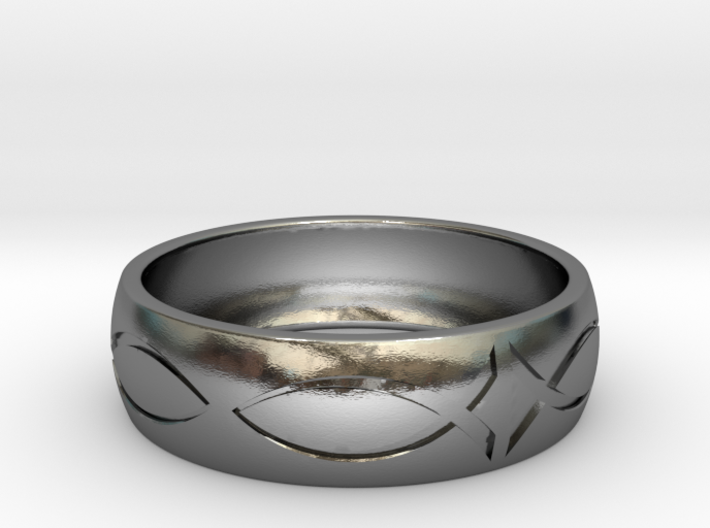 Size 7 Ring engraved 3d printed
