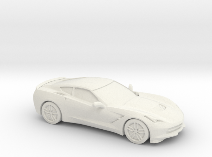 1/87 2014 Chevrolet Corvette Stingray C7 3d printed