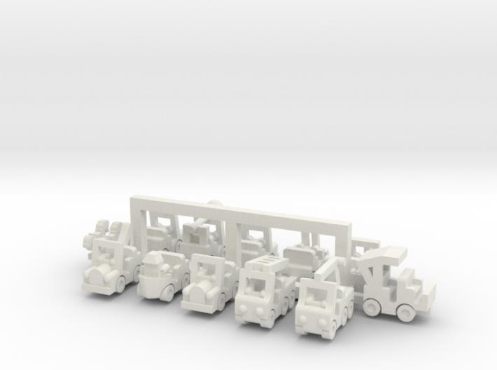 Set 2 Besatzungsteile 1:220 (Z scale) 3d printed