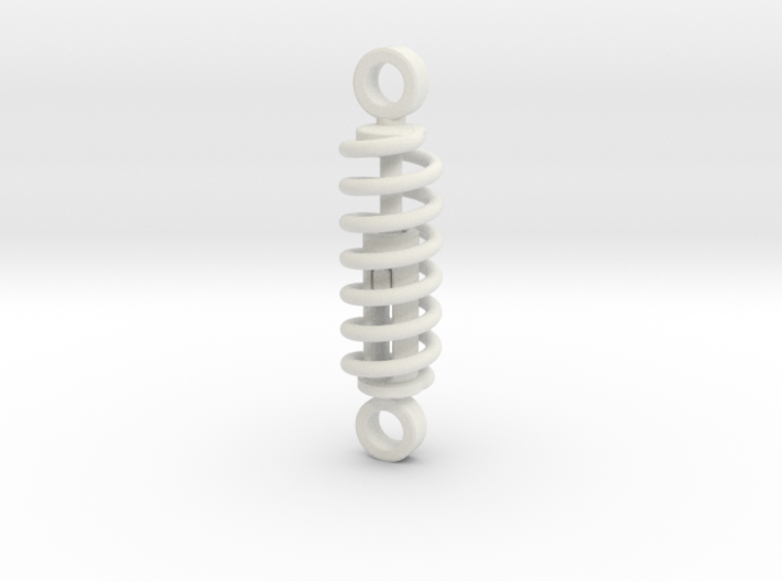 working spring shock absorber V1 60% 3d printed