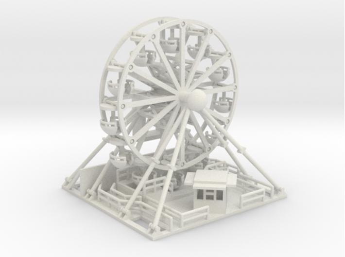 Riesenrad 60er - Antrieb 1:220 (Z scale) 3d printed zusammengesetzt - composite