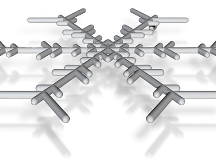 Snowflakes Series I: No. 6 3d printed