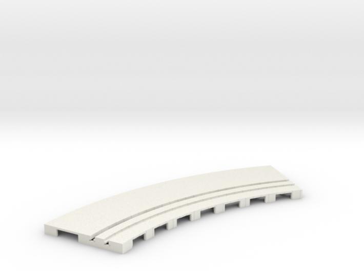P-65stp-curve-tram-road-inner-145r-100-pl-1a 3d printed